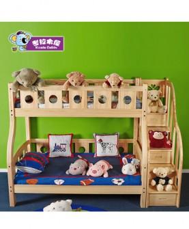松木双层床实木子母床儿童上下床高低床