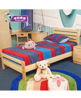 简约现代实木1米单人床1.2米松木
