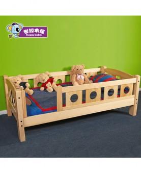 实木儿童床带护栏小床单人床加宽拼接床