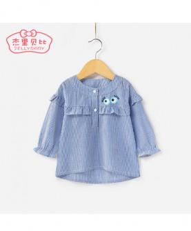 女童衬衣长袖1岁宝宝秋装打底衫