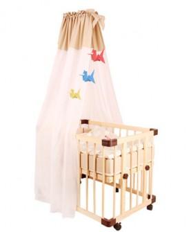 婴儿床蚊帐带支架宫廷开门蒙古包儿童宝宝蚊帐罩日式挡风帐