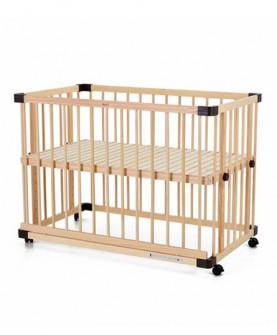 婴儿床实木新生儿多功能无漆宝宝床带滚轮可加蚊帐