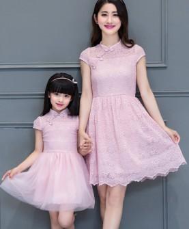 亲子装旗袍裙母女装夏装