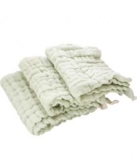 婴儿纱布方巾 新生儿吸水手帕毛巾六层纱布宝宝儿童手帕三条装