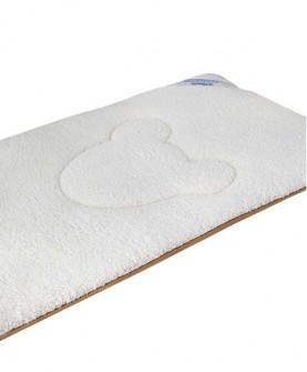 婴儿床垫子冬夏两用新生儿褥子棉垫婴儿床褥子垫被竹炭羊羔绒床垫