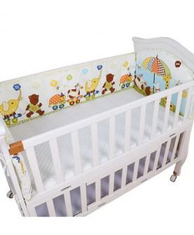 婴儿床床围 宝宝床上用品三件套儿童床围纯棉可拆洗婴儿床围防撞