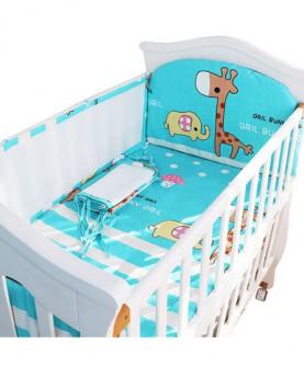 新生儿婴儿床上用品儿童床围婴儿床围夏季透气五件套3D网夏凉床围