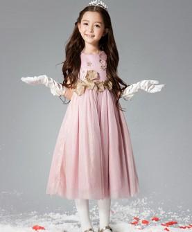 女童连衣裙公主裙长裙背心裙