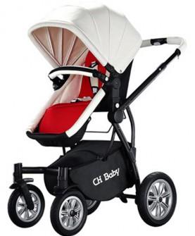 chbaby婴儿推车高景观儿童推车可坐躺折叠避震宝宝手推车bb婴儿车