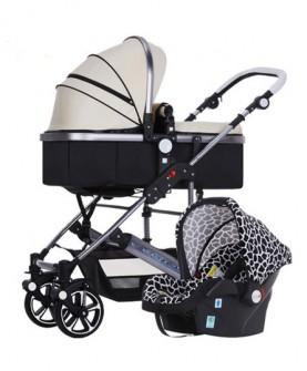 高景观婴儿推车可坐可躺轻便折叠冬夏两用提篮宝宝手推车