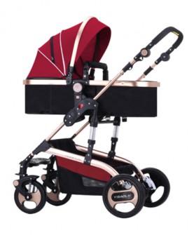 婴儿推车高景观可坐可躺婴儿车轻便折叠冬夏两用宝宝手推车