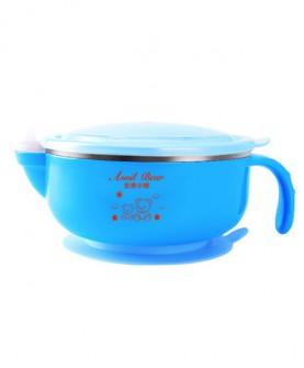 儿童餐具 吸盘碗宝宝注水保温碗 婴儿碗勺套装 辅食碗
