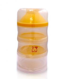 奶粉格便携式大容量储存盒外出 独立分装奶粉盒三层