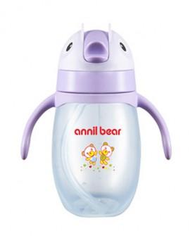 学饮杯宝宝水杯带手柄防漏企鹅水壶儿童喝水瓶婴儿吸管杯
