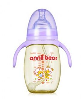 奶瓶PPSU新生儿耐摔宽口径硅胶奶嘴进口原料宝宝喝水小瓶婴儿用品