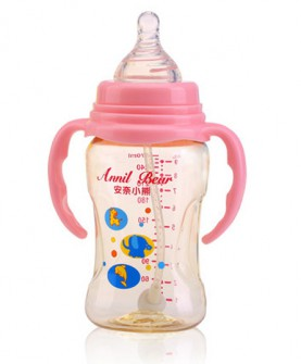 新生儿ppsu奶瓶耐摔正品硅胶配件手柄宽口径婴儿宝宝用品
