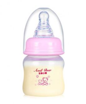 婴儿玻璃奶瓶硅胶奶嘴宝宝新生儿pp塑料喝水迷你小奶瓶