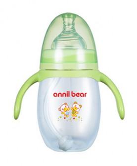 婴儿奶瓶宽口耐摔硅胶奶嘴宝宝pp塑料喝水奶瓶新生儿用品