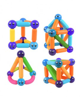磁力棒片男 女孩益智拼装磁性磁铁吸铁石儿童积木玩具3-6周岁