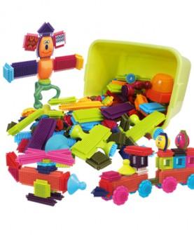 感统鬃毛积木儿童拼装积木早教益智软胶质宝宝拼插刺刺玩具