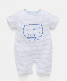 婴儿连体衣短袖纯棉男女宝宝夏装薄款哈衣新生儿衣服夏季爬服睡衣
