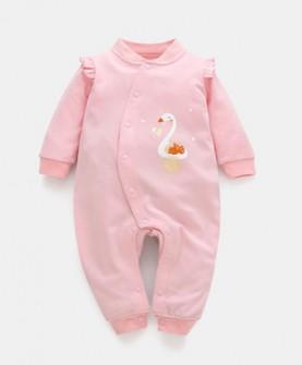 婴儿连体衣春秋纯棉男女宝宝哈衣秋季新生儿衣服0-3个月爬服睡衣