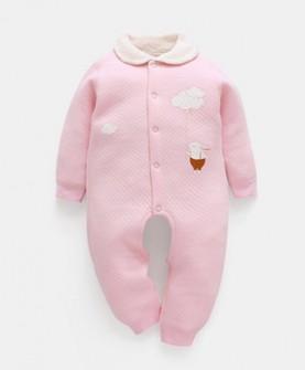 婴儿连体衣纯棉春秋季长袖外出服新生儿衣服男女宝宝保暖哈衣爬服