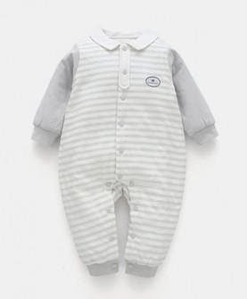 婴儿连体衣春秋薄款棉衣宝宝冬装哈衣爬服新生儿衣服秋冬季外出服