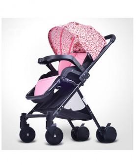 婴儿推车高景观轻便携可坐躺新生儿可折叠夏季手推车一键收车