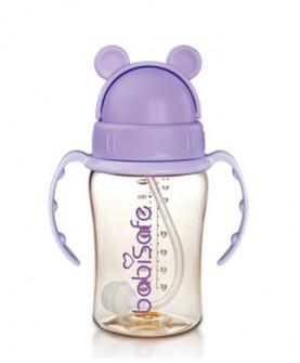 儿童水杯 吸管杯婴儿ppsu吸管水杯宝宝学饮杯训练杯带手柄