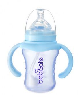 婴儿防爆宽口奶瓶180ml 新生儿防胀气防爆玻璃奶瓶