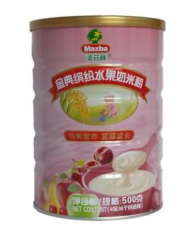 金典缤纷水果奶米粉