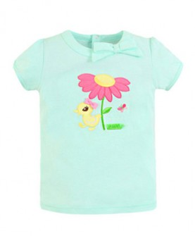 夏装新款小女童装纯棉圆领短袖