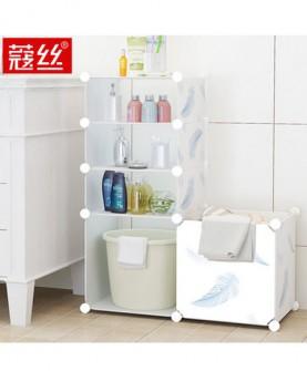 coleshome/脸盆架浴室厕所多层塑料置物架卫生间组装落地收纳