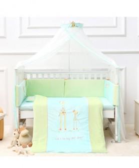 婴儿床蚊帐豪华儿童床带支架宫廷开门式宝宝蚊帐罩