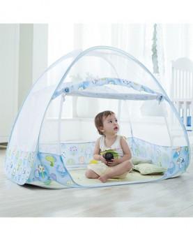 婴儿蚊帐罩蒙古包有底儿童宝宝婴儿床