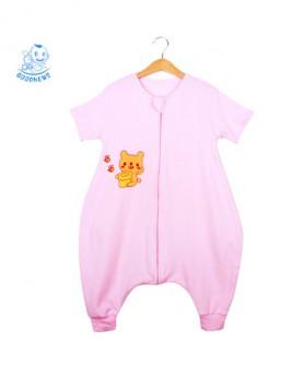 纯棉宝宝婴儿分腿睡袋春夏薄款儿童防踢被夏季短袖夏天空调房