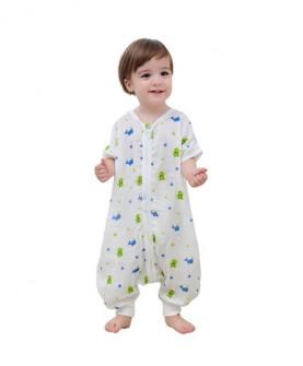 婴儿睡袋夏季薄款纯棉纱布春夏天防踢被薄棉春秋宝宝儿童分腿睡袋