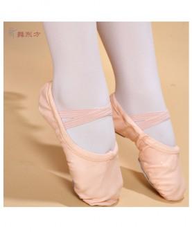 儿童舞蹈鞋软底练功鞋男女童芭蕾舞鞋秋冬成人帆布猫爪鞋