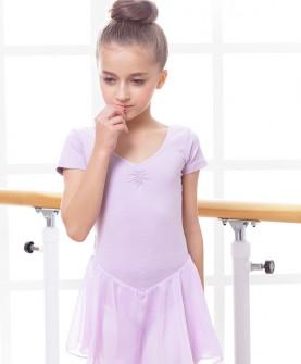 女童舞蹈服夏季舞蹈裙短袖芭蕾舞裙形体儿童舞蹈练功服