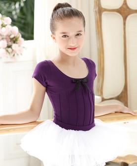 夏季芭蕾舞裙儿童舞蹈服练功服幼儿女童短袖连体演出服分体蓬蓬裙