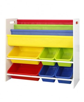 玩具储物架图书架幼儿园玩具收纳架