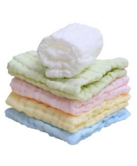 纱布口水巾婴儿洗脸巾小毛巾纯棉宝宝小方巾新生儿手绢婴幼儿手帕