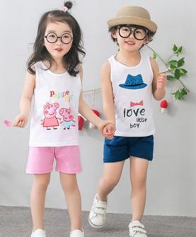 童装儿童背心套装夏季