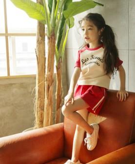 女童短袖运动套装韩版童装