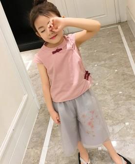 女童夏装2017新款套装