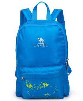 camel户外春季男童女童8l郊游外出双肩包儿童折叠背包