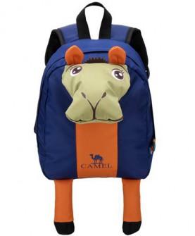 camel户外春夏休闲卡通可爱小书包8l儿童双肩背包外出