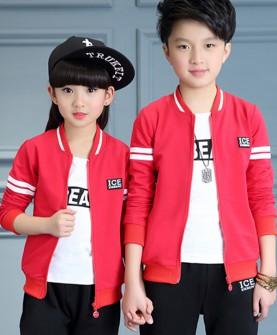 儿童秋装运动套装男女