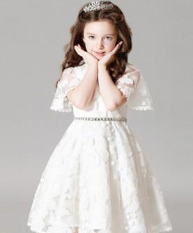 花童礼服白色女童公主裙